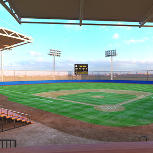 3D real baseball stadium model