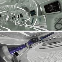 3D sci-fi room corridor control