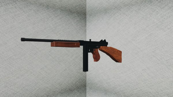 3D model thompson gun