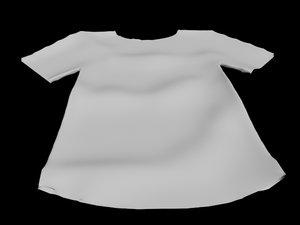 3D t-shirt lying floor wrinkled