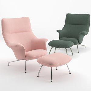 chairs doze lounge ottoman 3D