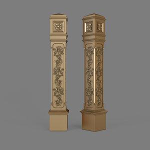 3D model stair column
