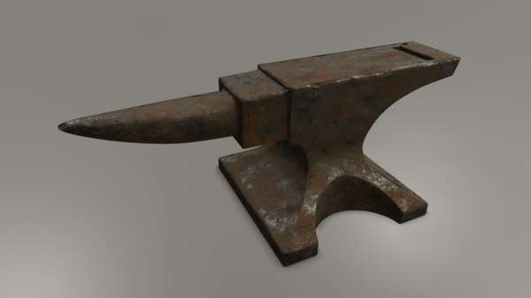 rusted anvil 3D model