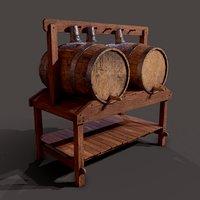 3D wine barrels holder model