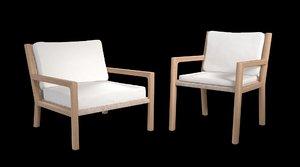 3D franck dining arm chair