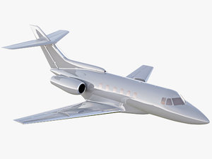 hawker 700 private jet 3D