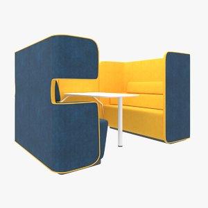3D pod sofa model