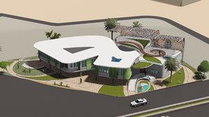 3D villa design revit
