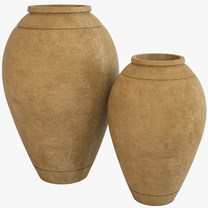 decorative pots 3D model