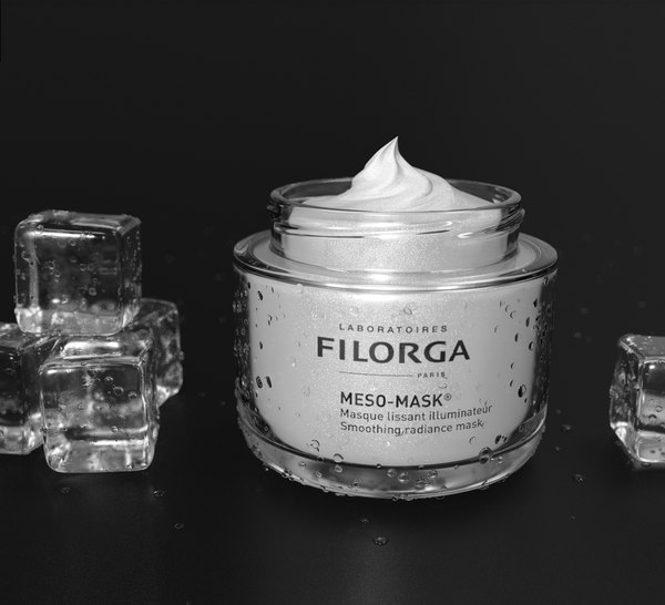 3D cream face ice model
