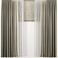 3D curtains tulle roman