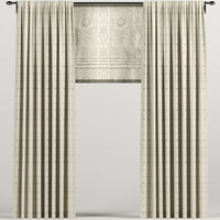 3D curtains roman beige model