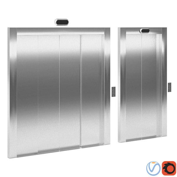 doors elevator 3D model