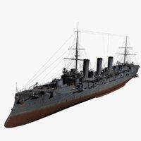 3D model bogatyr-class cruiser