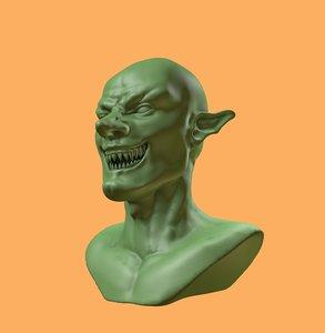3D goblin evil model