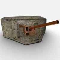 3D wwii bunker