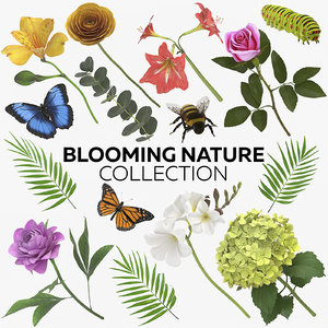 3D blooming nature - 15