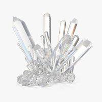 3D mineral quartz