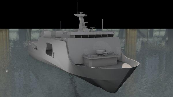 ssv warship 3D model