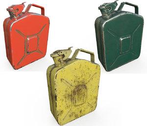 set fuel cans pbr 3D model