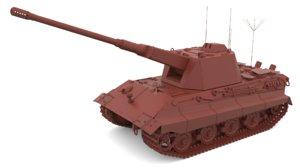 3D flakpanzer 75 concept iii model