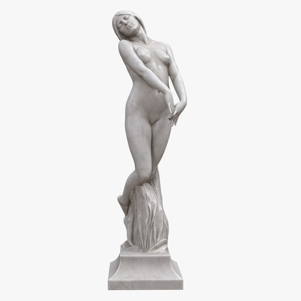 3D model woman sculpture mist