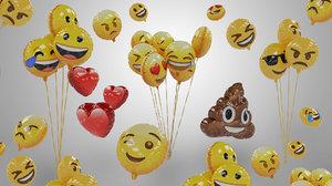balloon emojis 3D model