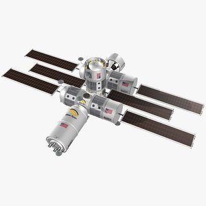 3D model luxury space hotel