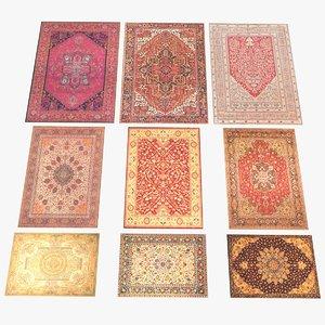 3D 9 persian carpets