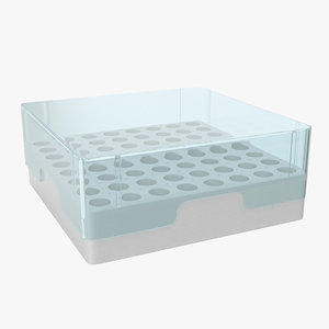 3D model eppendorf storage box 2