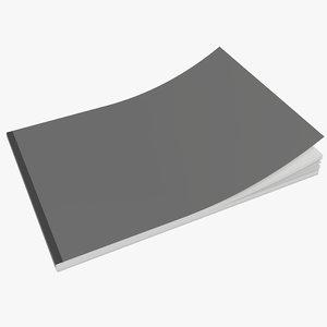 closed a5 brochure model