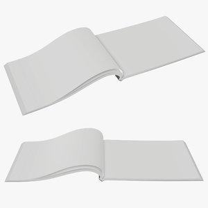 opened a5 brochure 3D model