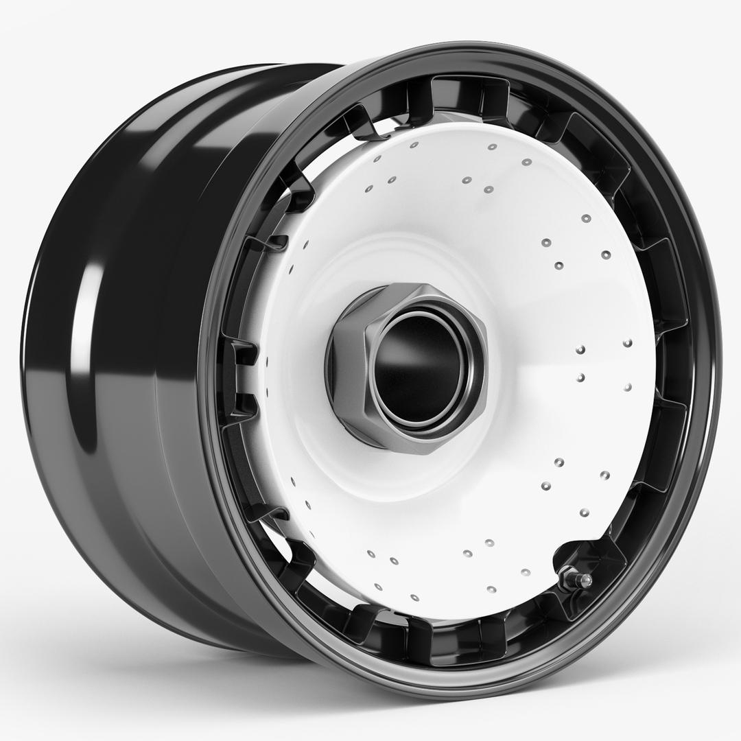 turbofan racing wheel 3D model