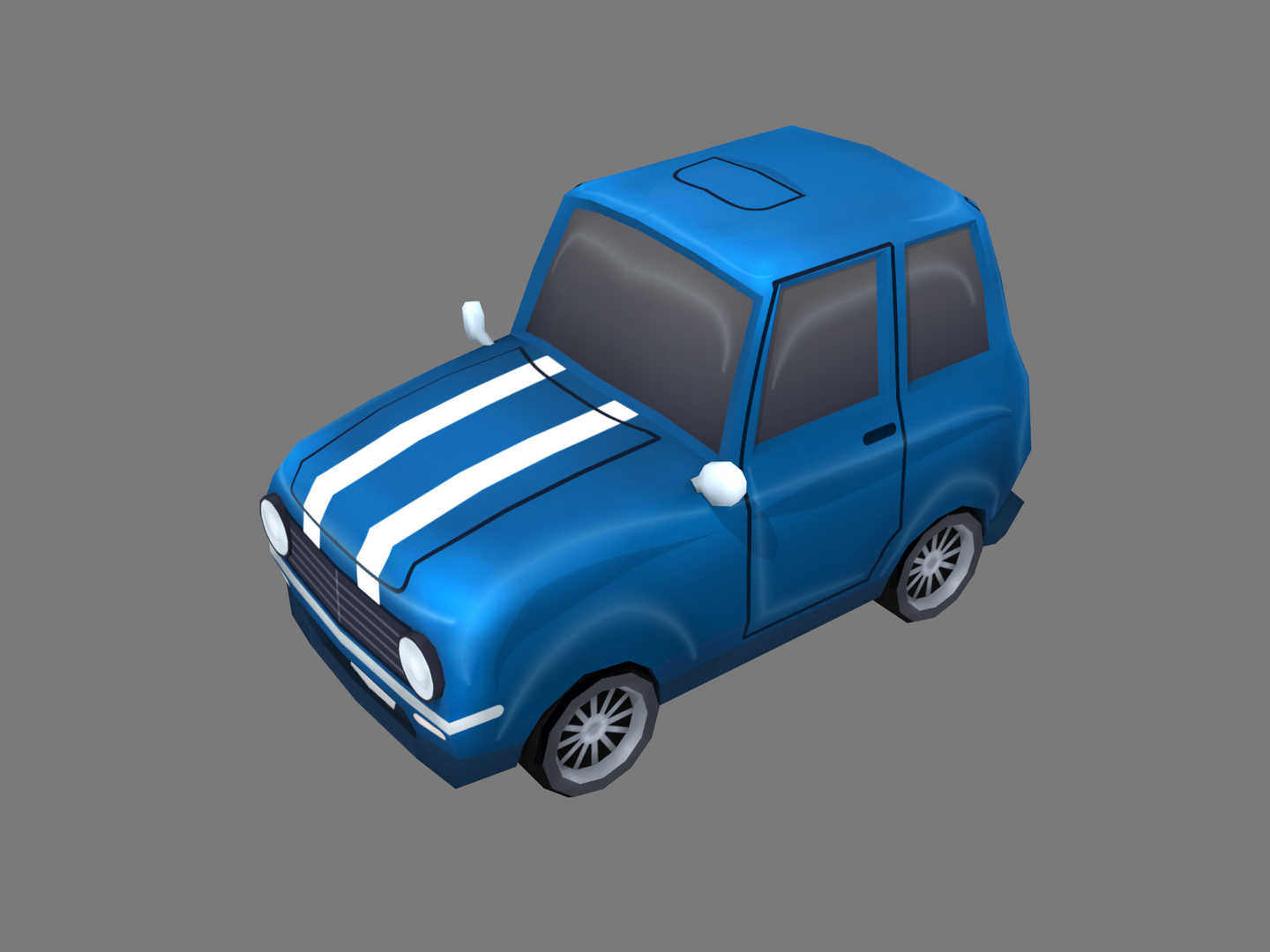 3D stylized cartoon car