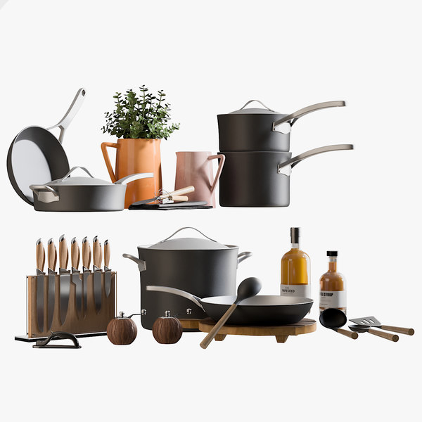 3D model realistic kitchen accessories 2