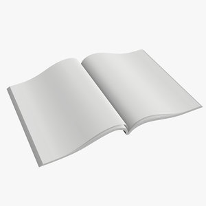 magazine opened 3D