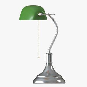 3D realistic desk lamp model