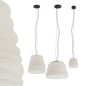 3D bibendum karman lamp milk