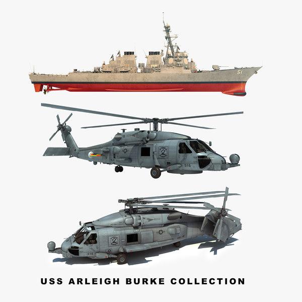 uss arleigh burke ddg 51 3D model