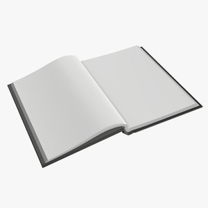 3D notebook opened a6