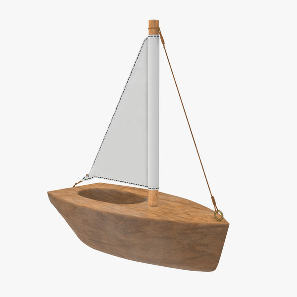 boat sail sailboat 3D model