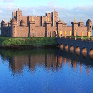 3D real castle scene model