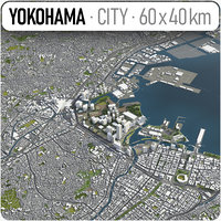city yokohama surrounding - 3D