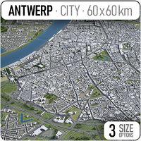 3D city antwerp surrounding area