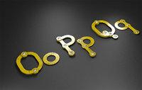 Rusty Metal Letter OPQ Letras de metal oxidado