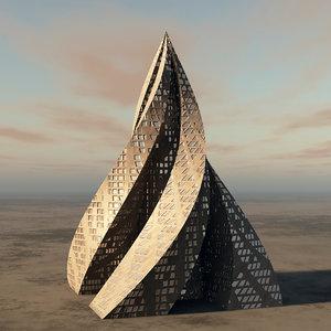 contemporary architecture building 3D