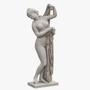 3D model venus callipyge statue