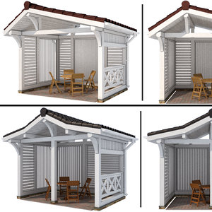 arbor modern style 2 3D model