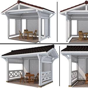 3D arbor modern style 2