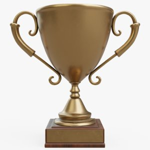 3D model trophy bronze
